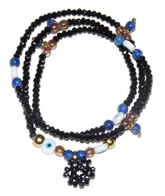 Short Necklace/Bracelet Sorte zodiac signs - Aquarius (lapis lazuli)