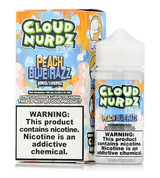 Juice - Cloud Nurdz - Iced Peach Blue Razz - 100ml