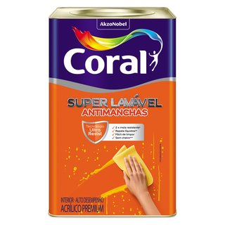 Coral Super Lavável 18L Antimanchas