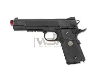 PISTOLA DE AIRSOFT WE 1911 M.E.U RAIL