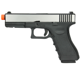 PISTOLA DE AIRSOFT GBB R17 Y ARMY ARMAMENT SILVER/BLACK