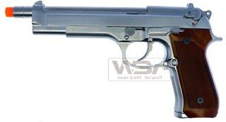 PISTOLA DE AIRSOFT WE M92 M925 SLV