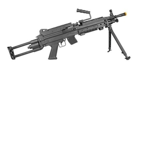 RIFLE DE AIRSOFT AEG SUPPORT LMG M249 LIGHT ROSSI