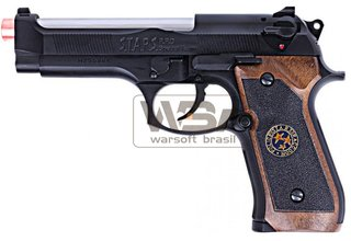 PISTOLA DE AIRSOFT WE M92 BIOHAZARD GEN2 BLK