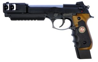 PISTOLA DE AIRSOFT WE M92 BioHazard Extended Full Metal V2 Full Auto