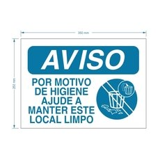 Placa PS Manter este Local Limpo / PSD-TR-AV013 - comprar online