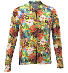 Camisa de Ciclismo Manga Longa Feminina Márcio May Cool Leaves