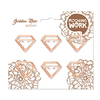 CLIPS GOLDE ROSE FORMA DIAMANTE X6 UNIDADES