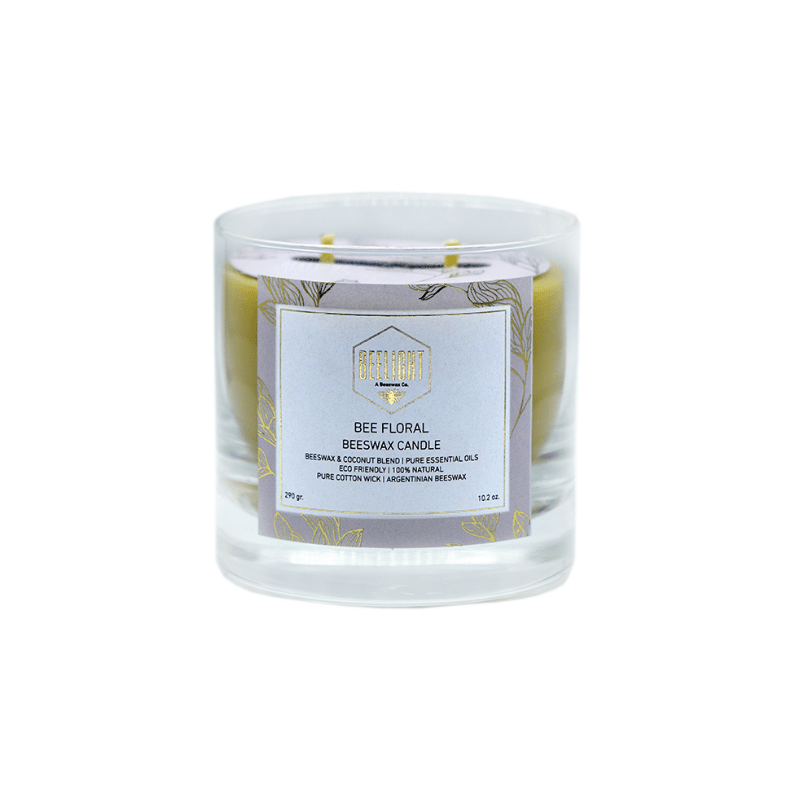 Beeswax Candle - Bee Floral Mediana - comprar online