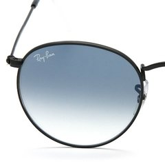 Ray Ban Round Metal rb3447 003/3f negro/azul degradé en internet