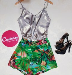 SHORT SAIA FOLHAS - Cranberry Fashion and Trend