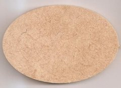 Placa Oval Lisa 15,5x23cm MDF 3mm