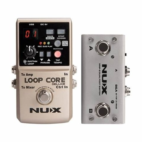Nux Loop Core Deluxe Pedal Looper True By Pass - comprar online
