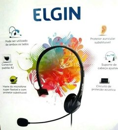 Fone Headset Cal Center Headphone Elgin Com Ajuste F02-1nsrj na internet