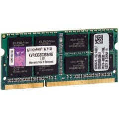 Memória Kingston 8GB, 1333MHz, DDR3, Notebook, CL9 - KVR1333D3S9/8G