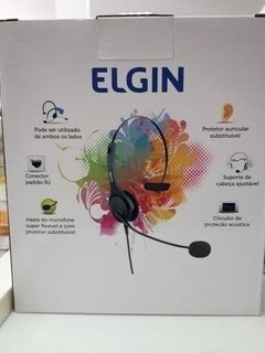 Fone Headset Cal Center Headphone Elgin Com Ajuste F02-1nsrj - comprar online