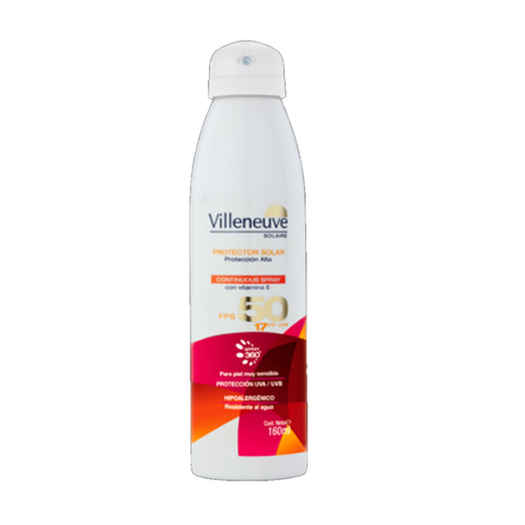 Protector  Spray Villeneuve Fps 50 X 160 Ml.