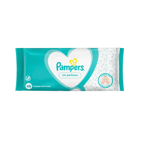 Toallitas Pampers sin perfume x 48 Unid.
