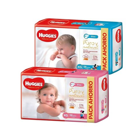 Huggies Natural Care Ellos y Ellas (G-XG-XXG) - Noni Noni