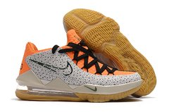 Tênis Nike LeBron 17 Low Orange Marble Grain - Rocha Madrid Sports