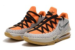 Tênis Nike LeBron 17 Low Orange Marble Grain na internet