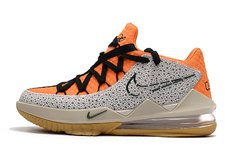 Tênis Nike LeBron 17 Low Orange Marble Grain