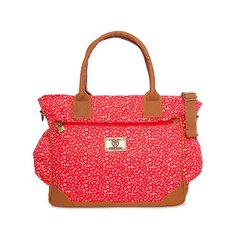 HAPPY LITTLE MOMENTS BOLSO CATA FLORES ROJO