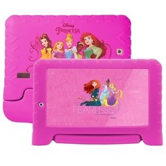 Tablet Multilaser Disney Princesas Plus 16GB Tela 7 Pol. Quad Core Dual Câmera Rosa- NB308