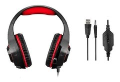Headset Gamer Warrior Rama P3+USB Stereo Adaptador P2 LED Vermelho na internet