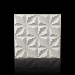 PANEL DECORATIVO 3D PVC REVESTIMIENTO PARED DIAMANTE 50X50