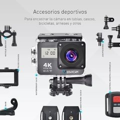 Camara Deportiva Full HD 4K Doble Lcd