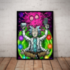 Incrivel quadro decorativo rick and morty psicodelico 42x29cm