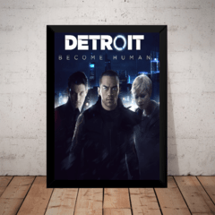 Quadro Game Detroit Become Human Arte Poster Moldurado
