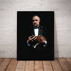 Quadro Filme O Poderoso chefão The Godfather Arte Sem Texto