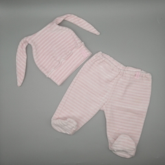 Set Talle 0 meses plush rosa blanco
