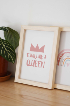 Think like a Queen - Cuadro Box