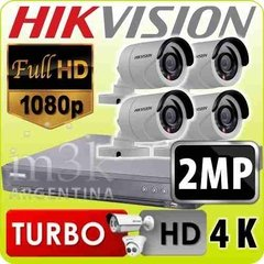 Kit Seguridad Hikvision Turbo 4.0 1080 Dvr 4 + 4 Camara 2mp