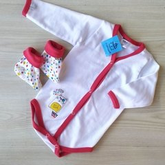 BODY M LARGA CON ESCARPIN - YABY - 6 MESES
