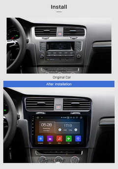 "Stereo Multimedia 10"" para VW Golf 2014-2019 con GPS - WiFi - Mirror Link para Android/Iphone en internet"