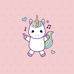 Placa Decorativa Unicornio Baby III