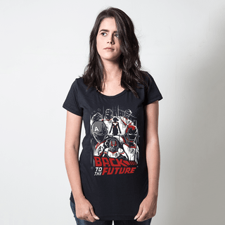 camiseta preta filmes e series back to the future