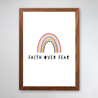 PÔSTER COM MOLDURA - FAITH OVER FEAR