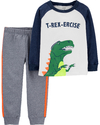 "SET 2 PIEZAS REMERA MANGA LARGA Y JOGGING ""T-REX"""