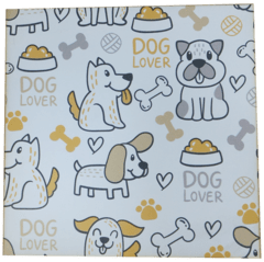 placa 20x20cm MDF 3mm adesivada - Dog Lover